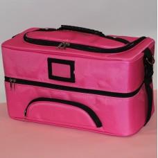 Чемодан тканевой длинный Розовый