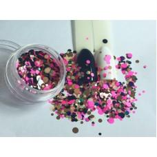 Конфетти для декора ногтей. Камифубуки 12шт/уп (блестящие)
