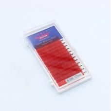 Ресницы 0.10C 12 мм Red