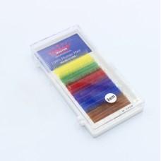 Ресницы 0.10C 8 мм Mix color