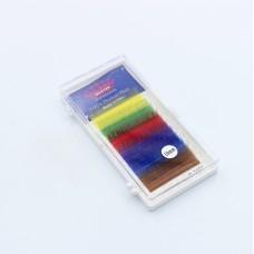Ресницы 0.10C 10 мм Mix color