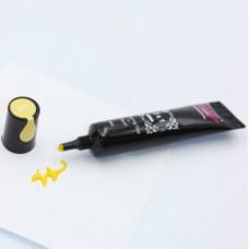Гель краска для стемпинга и рисования 2в1 жёлтая